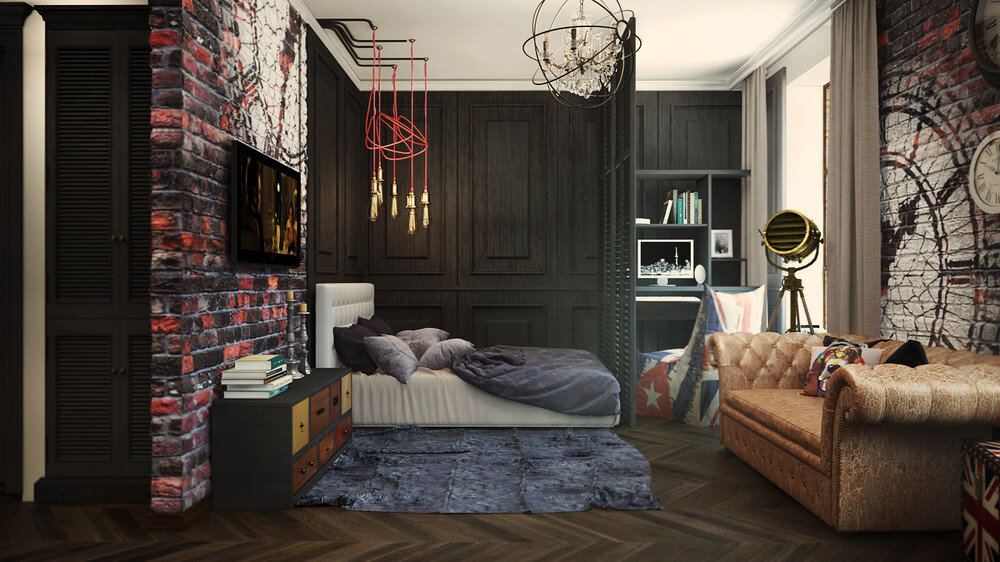 London Sky eclectic 32 Sqm studio apartment in London - HomeWorldDesign (8)