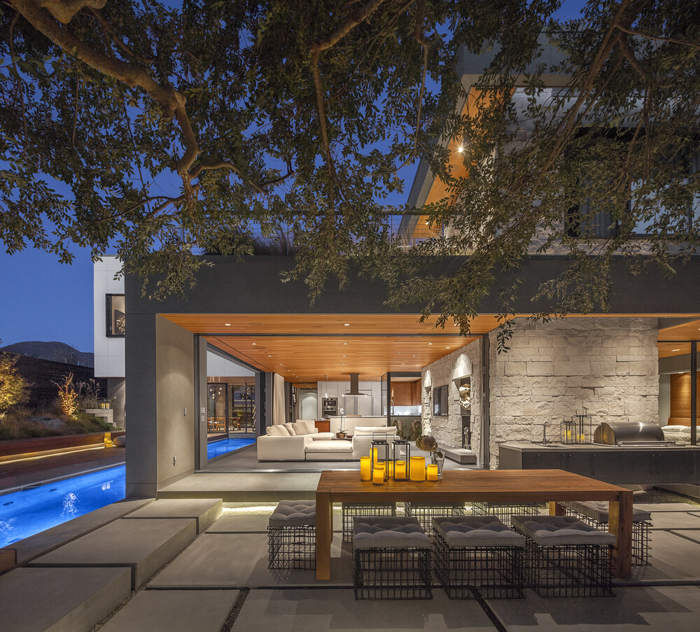 Acacia House residence with a lounge arranged on the rooftop - HomeWorldDesign (2)