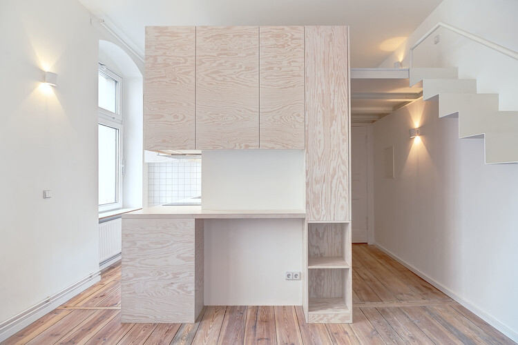 21 square-meters micro-apartment renovated by Spamroom in Berlin