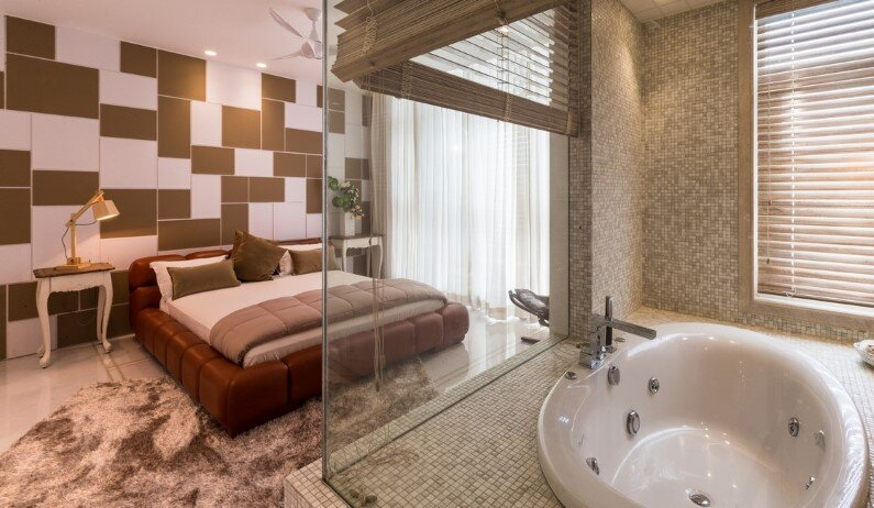 Duplex Apartment by Moriq Studio in the Indian town of Hyderabad - bathroom