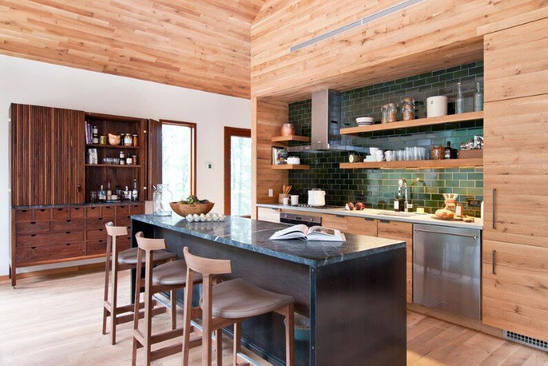 Hudson Woods energy efficient modern houses - kitchen