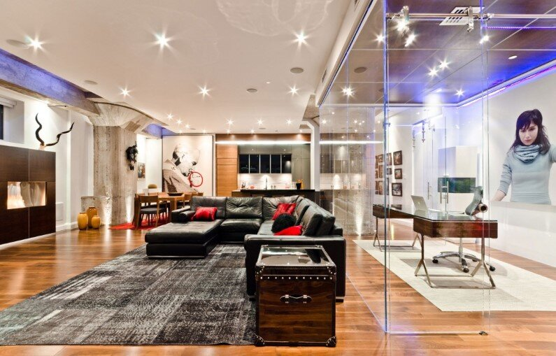Old Montreal Loft modern and charismatic project