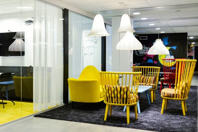 Spotify office in Stockholm - interior design ideas