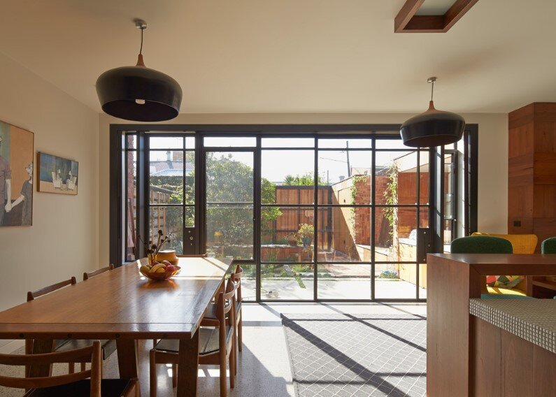 Victorian house in Melbourne  by Phooey Architects - dining room