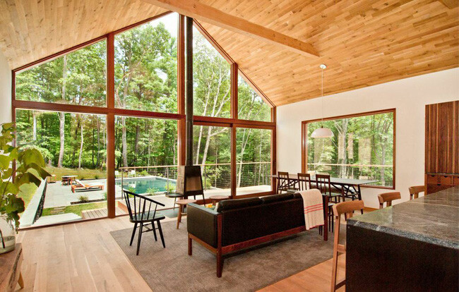 energy efficient modern houses - living room