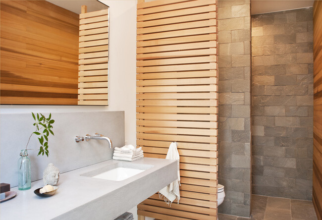 modern houses in New York - bathroom