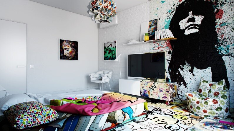 Artistic design bedroom by Pavel Vetrov Avant-Garde Sunday Room