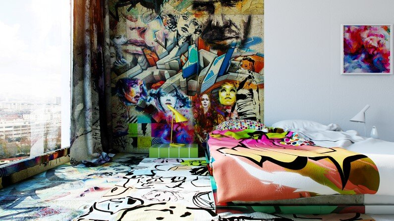 Artistic design by Pavel Vetrov Avant-Garde Sunday Room