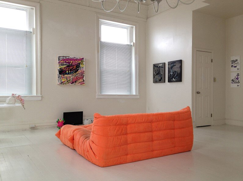 Baltimore apartment - orange sofa