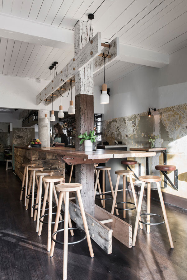 Bar by Techne Architecture and interior design - maritime, timeworn and rustic feel