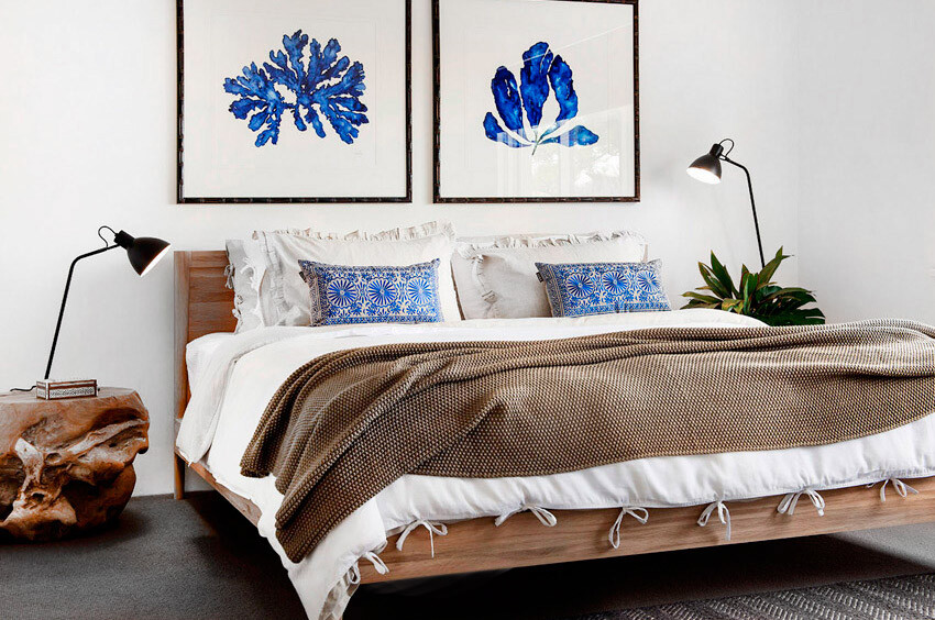 Bedroom - coastal style design by Collected Interiors