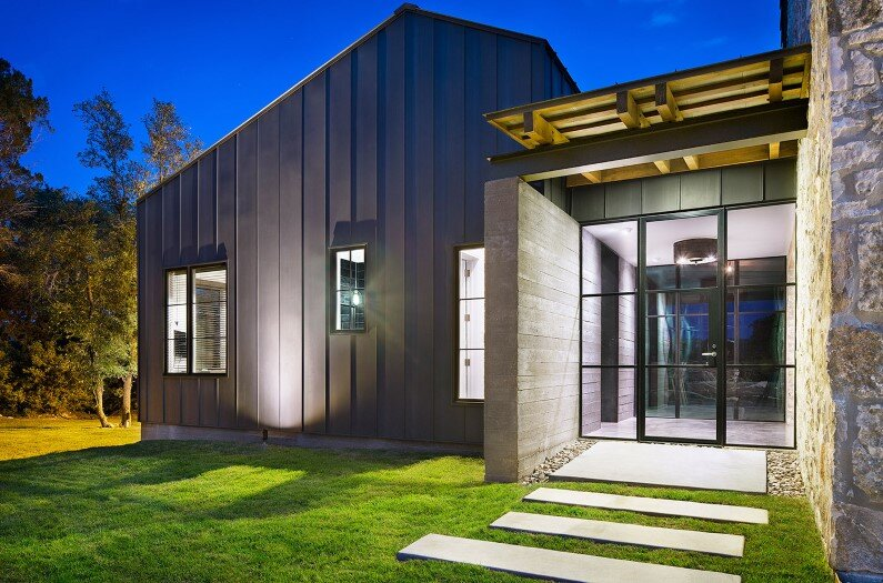 Fun home designed by Shiflet Group Architects in West Austin, Texas