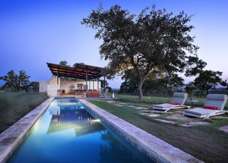 House designed by Lake Flato Architects, Center Point, Texas