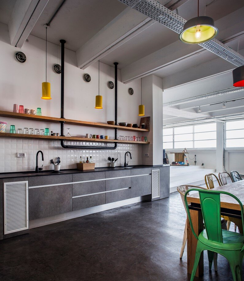 Industrial style workspace by architect Roy David - Jelly Button Games and Hamutzim Studio