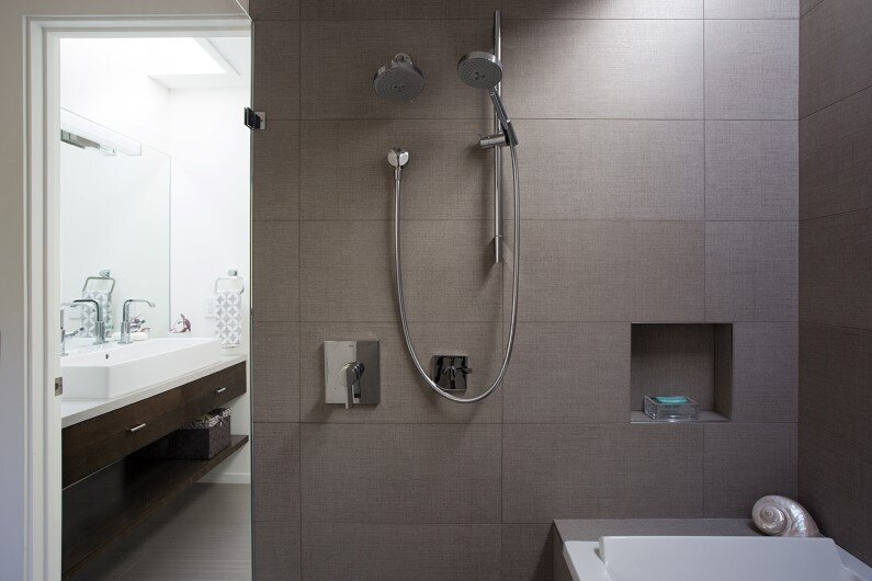 Mid-Century Modern View House Remodel by Klopf Architecture - Bathroom