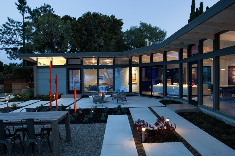 Mid-Century Modern View House , Silicon Valley