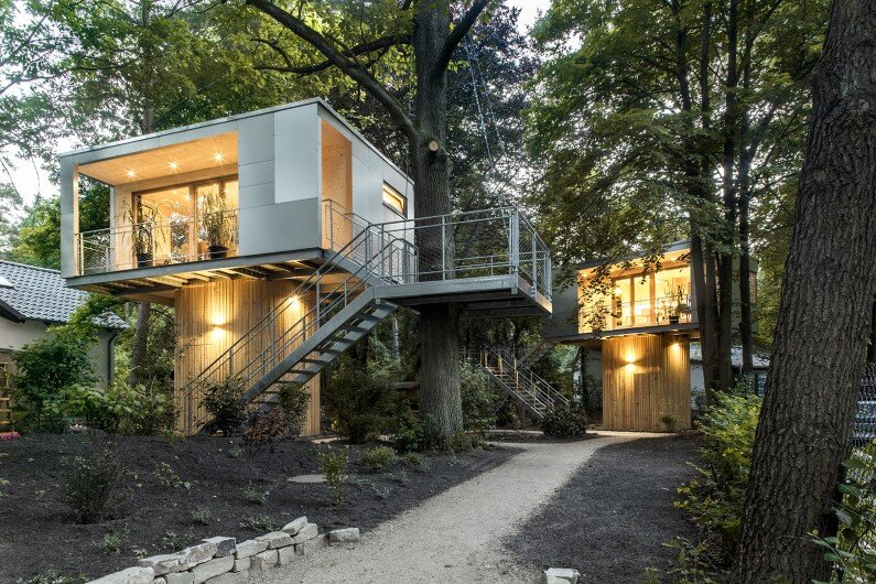 Treehouse Hotel in Berlin - Baumraum  architecture