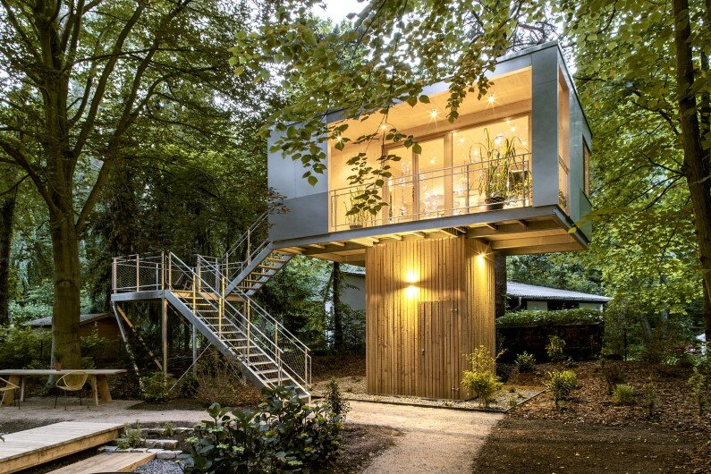 Urban Treehouse Hotel in Berlin - Baumraum