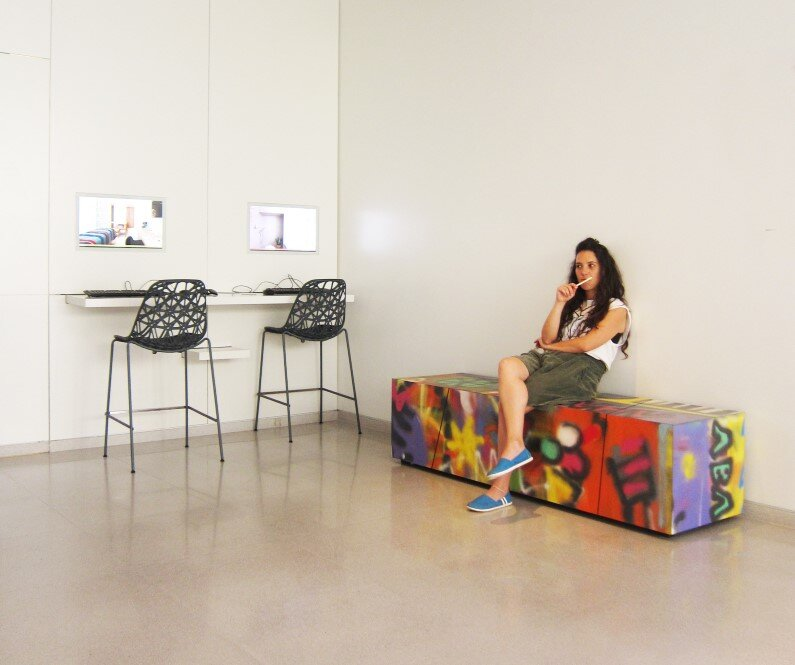bench - unique combination of street art and furniture design