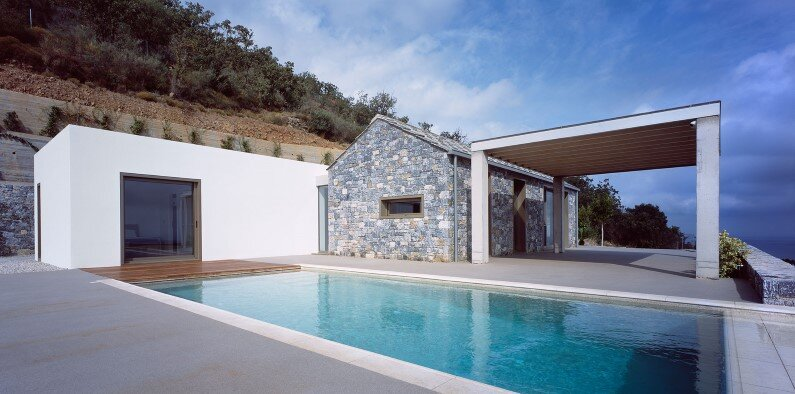 traditional materials - Melana Villa is located in Tyros, Greece