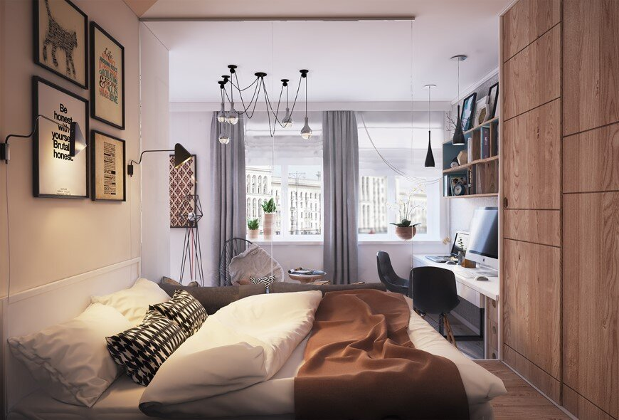 40 sqm apartment  with modern and unique design for a young family  (2)