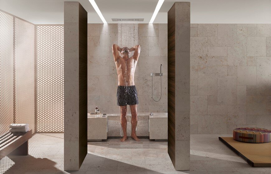 Comfort Shower from Dornbracht lets you shower while sitting down (1)