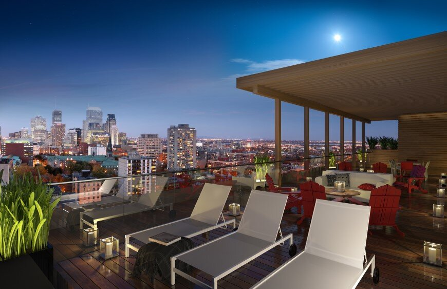 Condos XACT with a superb exterior rooftop terrace (2)