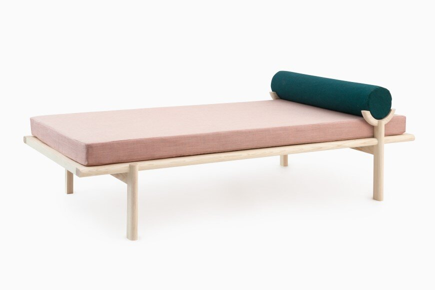 Crescent Lounge by Brooklyn based Vonnegut-Kraft - contemporary technological manufacturing and a tradition of handmade craftsmanship
