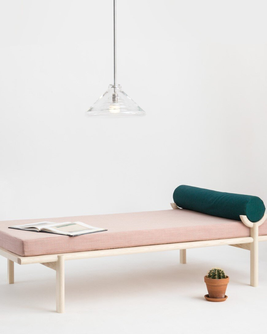 Crescent Lounge by Brooklyn based Vonnegut-Kraft (5) - contemporary technological manufacturing and a tradition of handmade craftsmanship