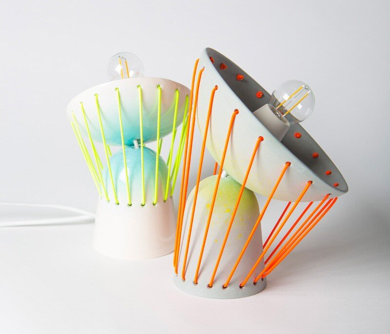 Elastic Lights - collection of articulated ceramic lamps (2)