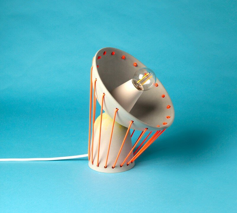 Elastic Lights - collection of articulated ceramic lamps (3)