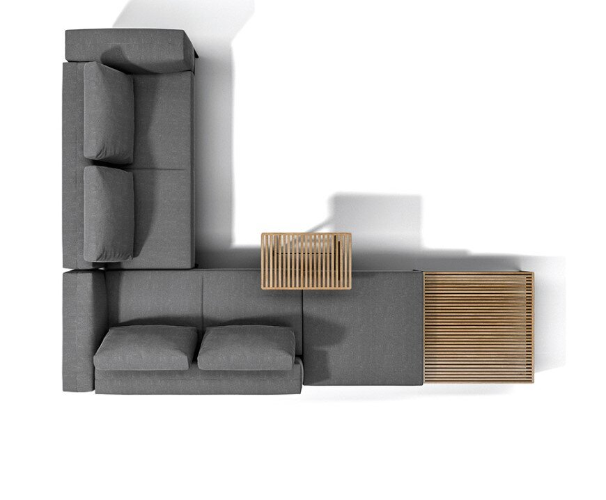 Grid - clean lines and flexible elements for cosy lounge (8)