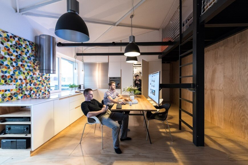 Industrial style in harmony with warm natural materials in a cozy loft by Rules Architects - Bratislava (19)