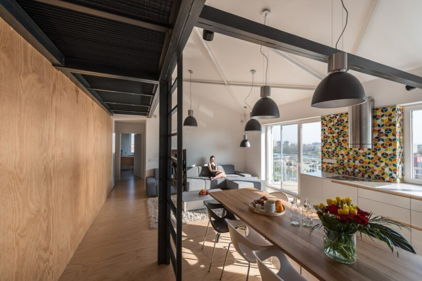 Industrial style in harmony with warm natural materials in a cozy loft by Rules Architects - Bratislava (20)