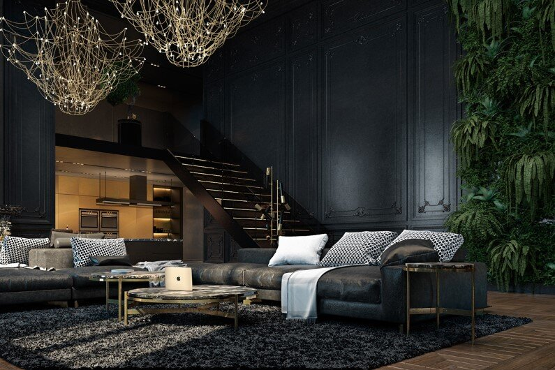 Luxury interiors with a charming aesthetics in Paris (1)