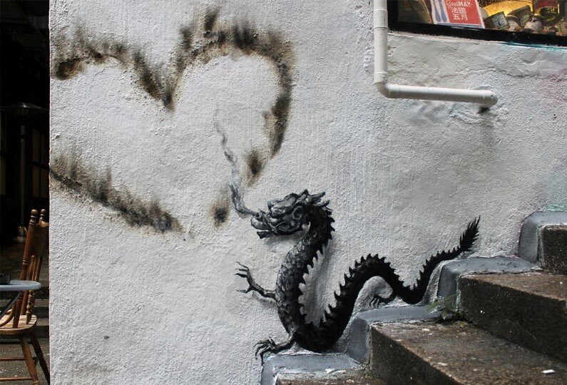 New Paintings by Spanish street artist Pejac Tokyo, Seoul and Hong Kong (9)