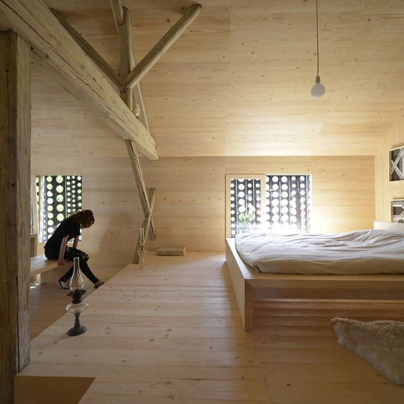Old Alpine Barn revitalized by converting into a loft apartment (2)