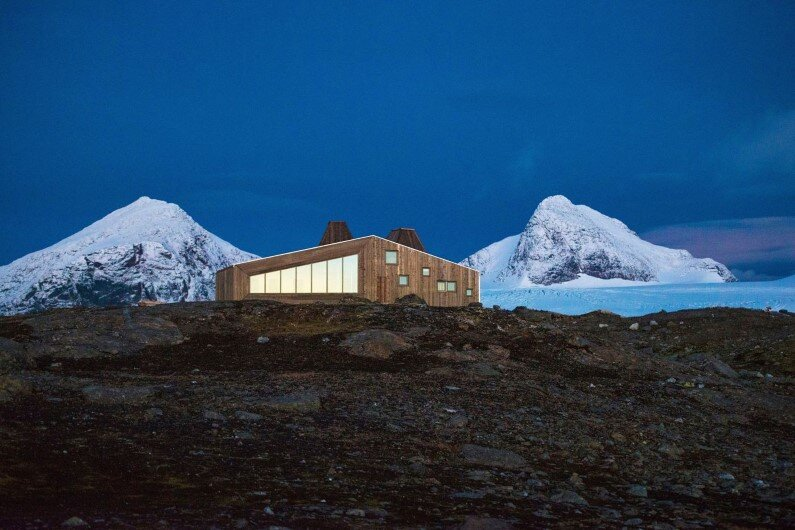 Rabot Tourist Cabin - close to glaciers in northern Norway (1)