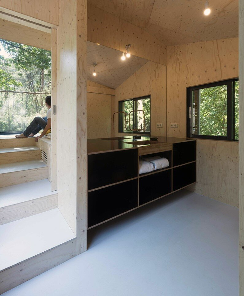 Transformation Forest House sustainable, compact and sculptural rooftop extension (2)