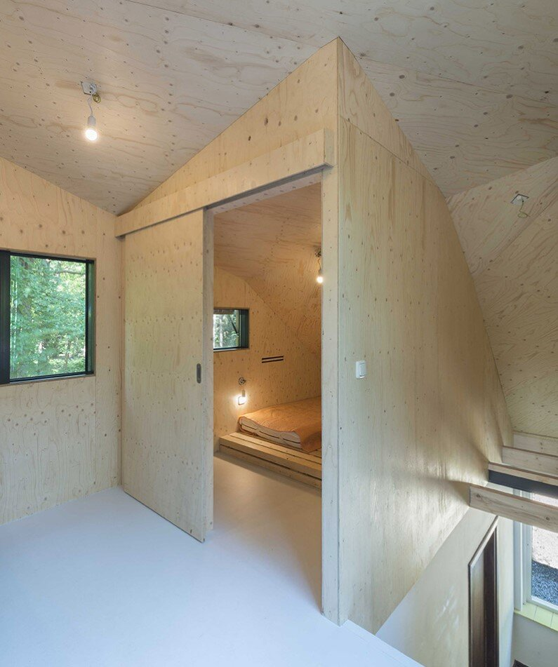 Transformation Forest House sustainable, compact and sculptural rooftop extension (3)