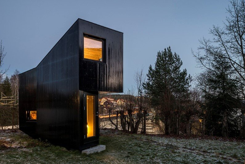 Writer's Cottage in suburban residential area of the Oslo city (1)