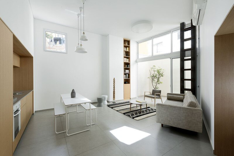 50 sqm Garden Apartment in Jaffa - Itai Palti Studio (1)