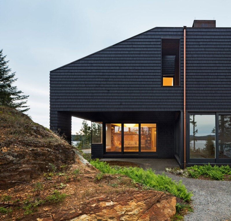 A house, boathouse, and studio structure by Andrew Berman Architect (5)