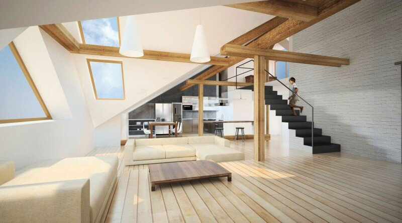Attic loft reconstruction in a late 19th century house (12)