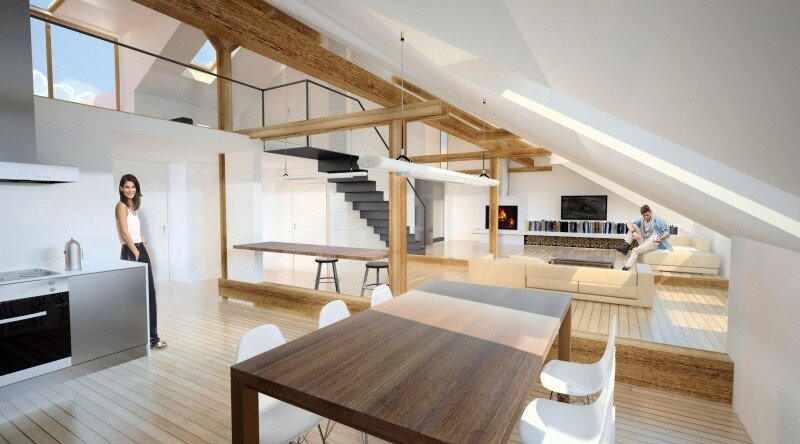 Attic loft reconstruction in a late 19th century house (13)