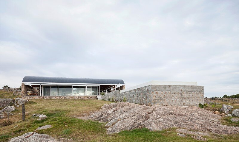 Calera del Rey Residence stone structure with a vaulted roof (10)