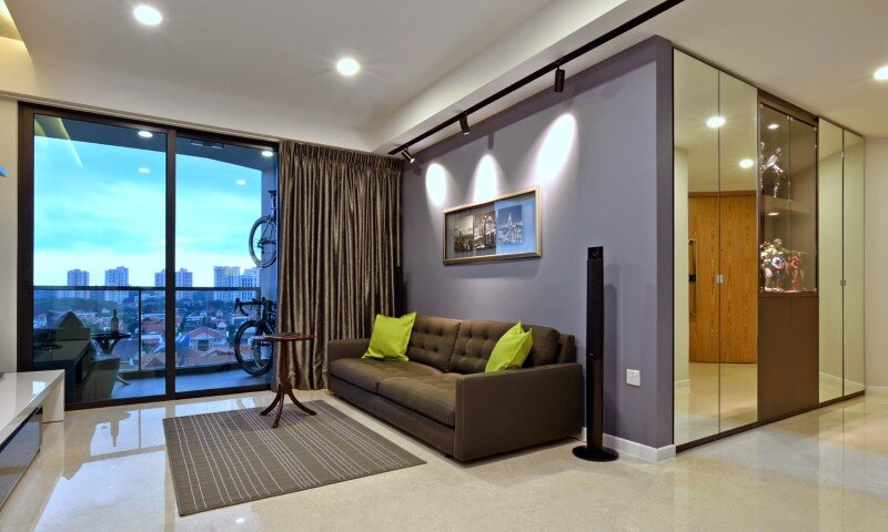 Dakota Crescent apartment earth tone, minimalist and clean design (8)