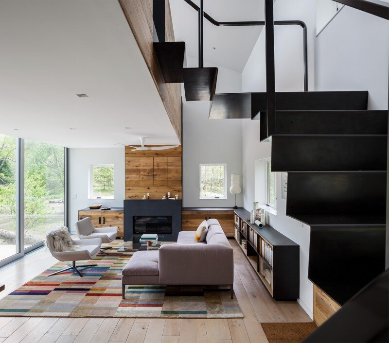 Davis Country House with high-end millwork and recycled timber finishes (13)