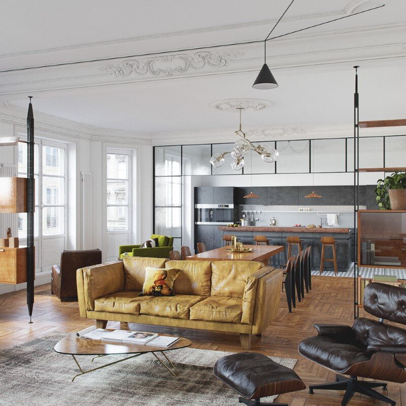 Eclectic interior design for an attractive and cozy home (8)