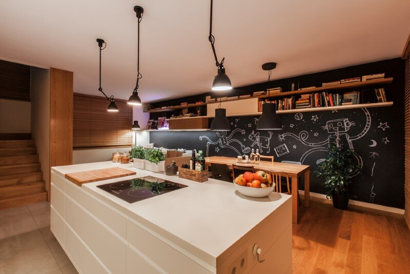 Friendly house with a lounge and kitchen open space (7) D79 House